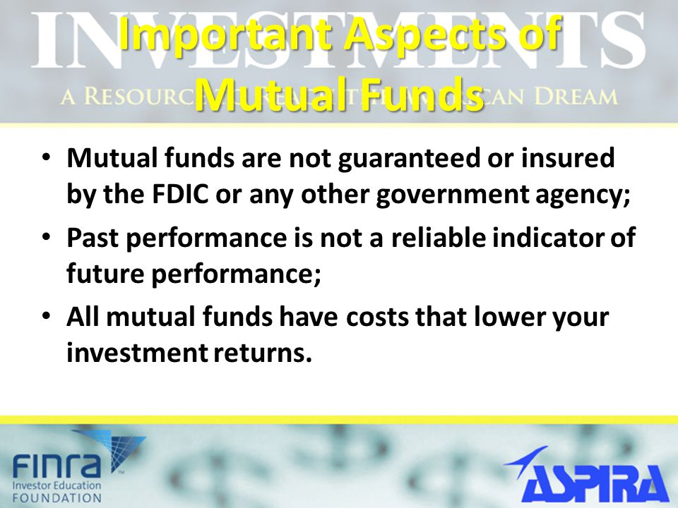 Important Aspects of Mutual Funds