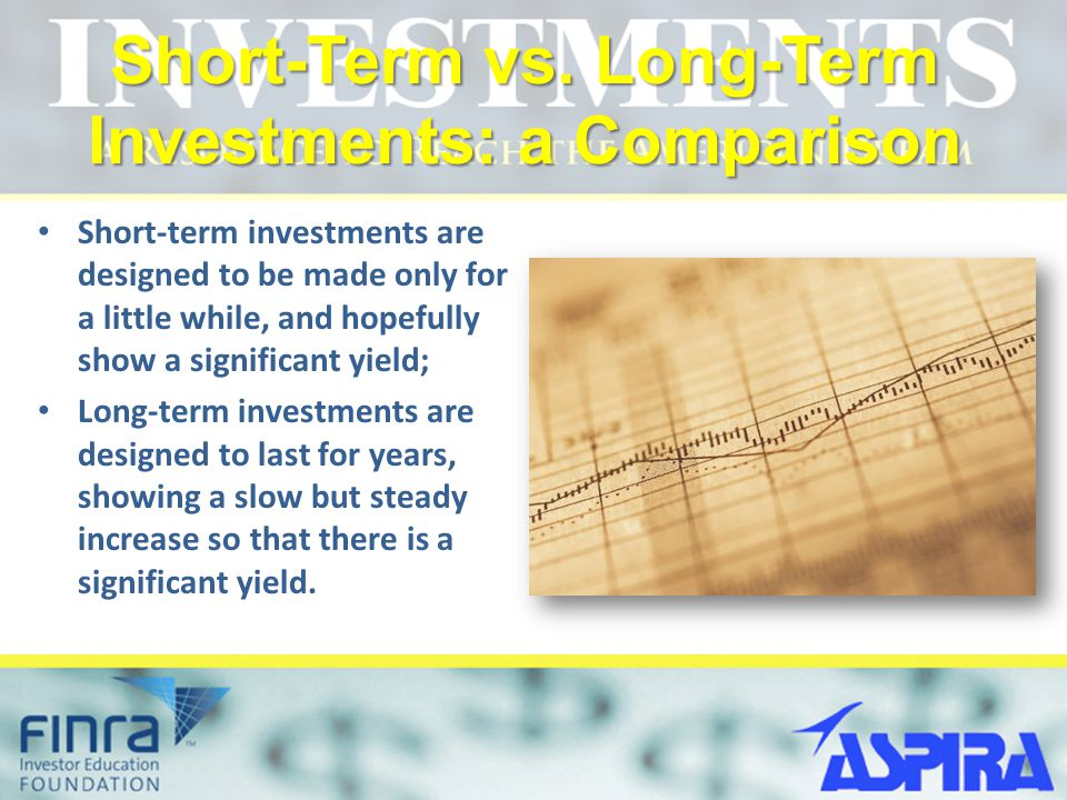 Short-Term vs. Long-Term Investments: a Comparison