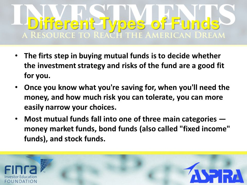 Different Types of Funds