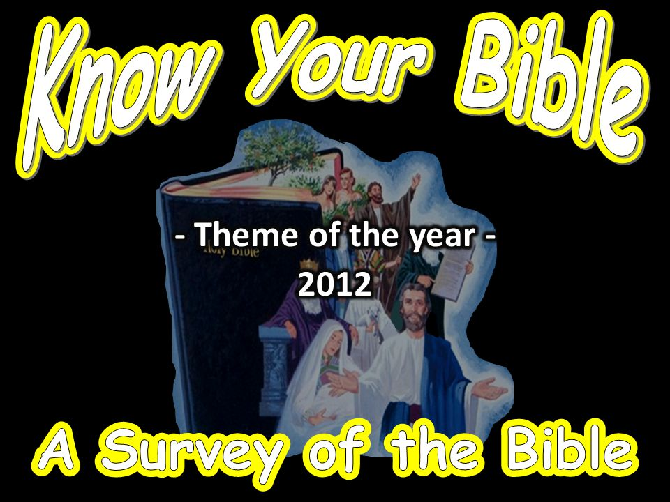 A Survey of the Bible A Survey of the Bible