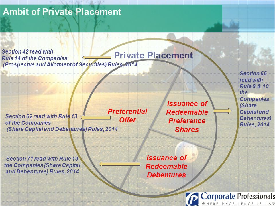 Ambit of Private Placement