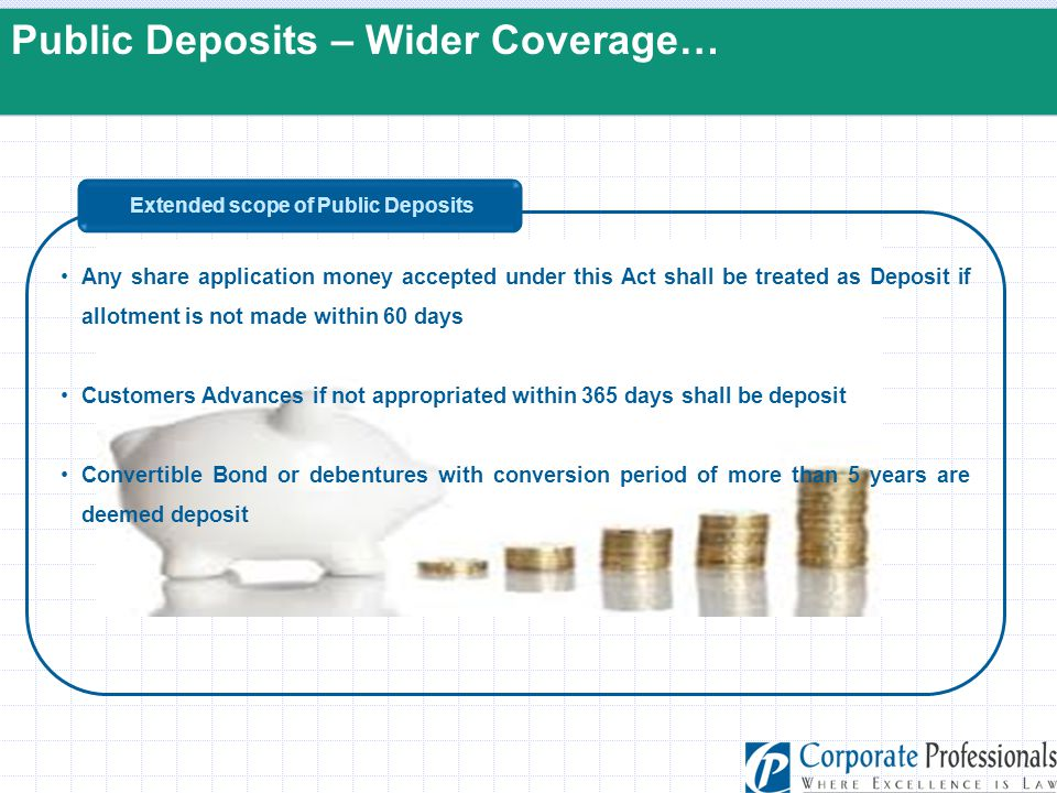 Extended scope of Public Deposits
