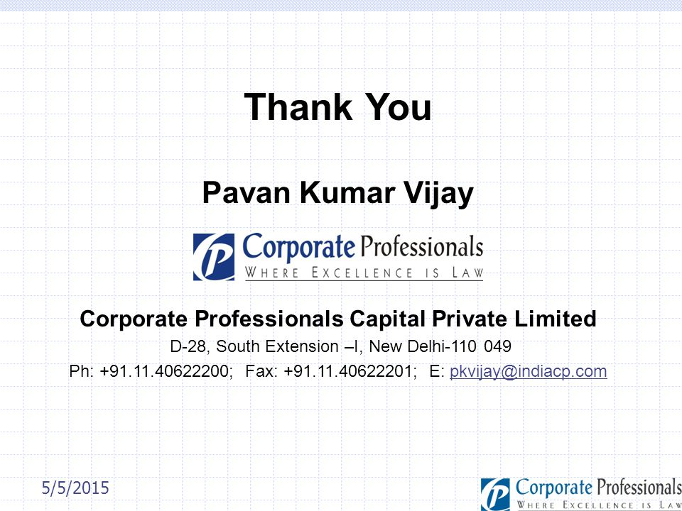 Corporate Professionals Capital Private Limited