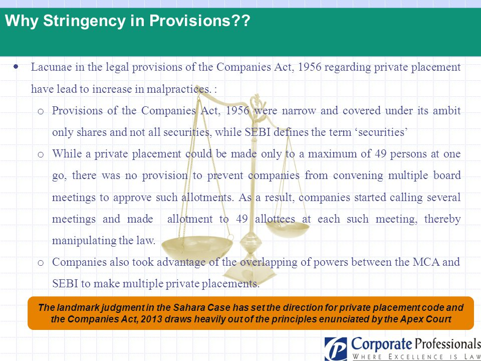Why Stringency in Provisions