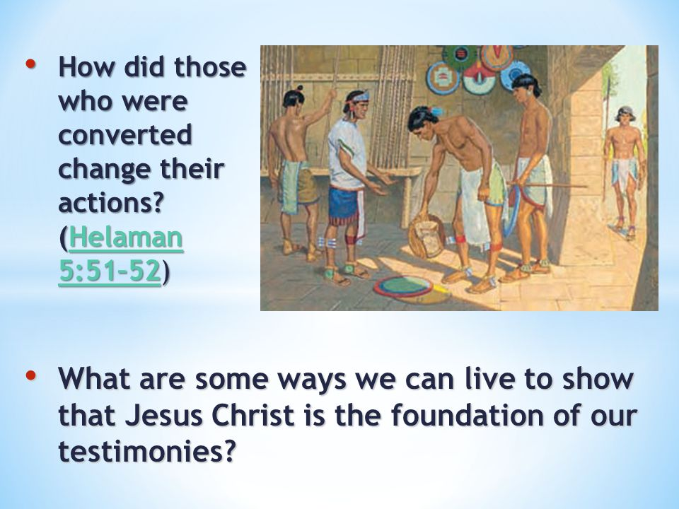 How did those who were converted change their actions
