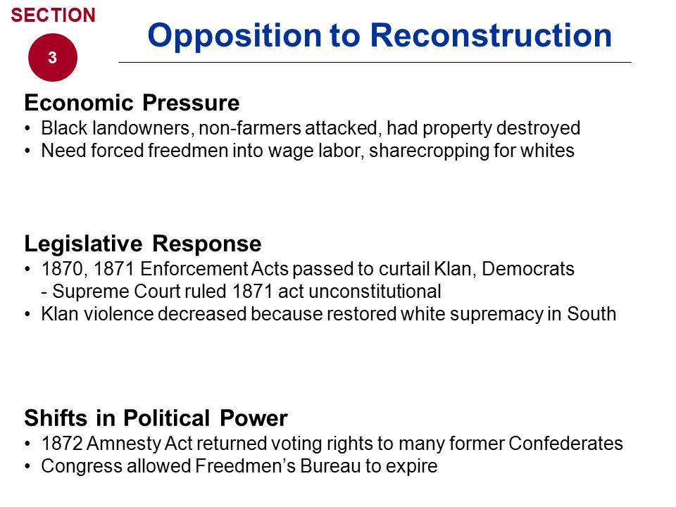 Opposition to Reconstruction