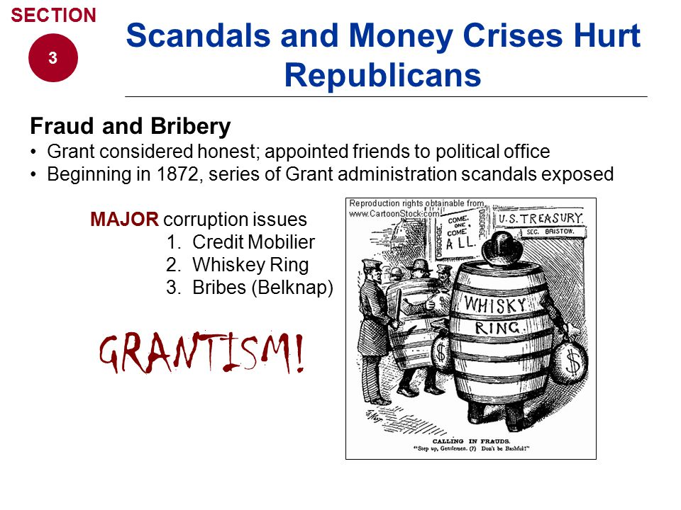 Scandals and Money Crises Hurt Republicans