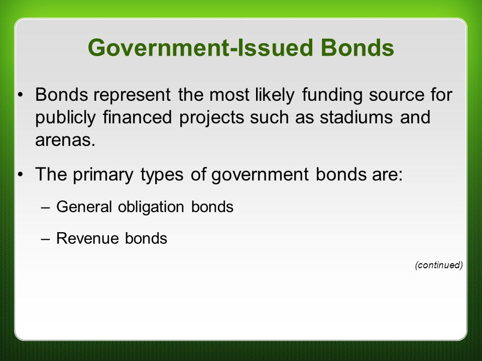 Government-Issued Bonds