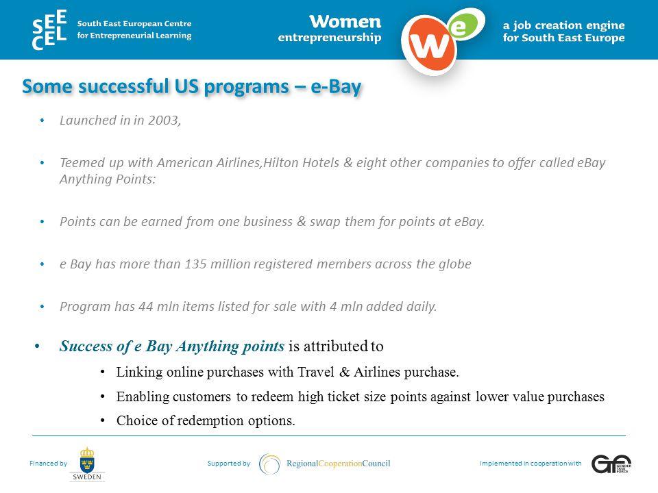 Some successful US programs – e-Bay