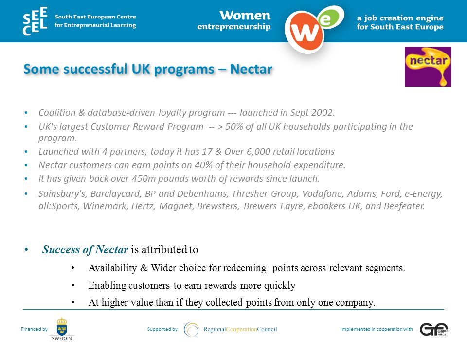 Some successful UK programs – Nectar