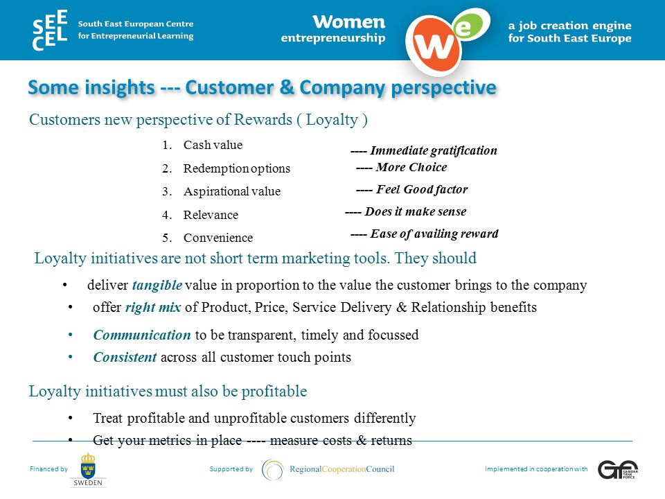 Some insights --- Customer & Company perspective