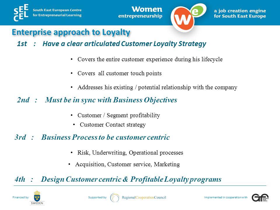 Enterprise approach to Loyalty