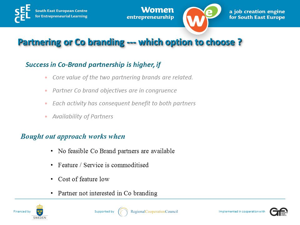 Partnering or Co branding --- which option to choose