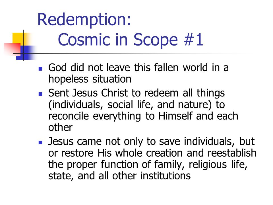 Redemption: Cosmic in Scope #1
