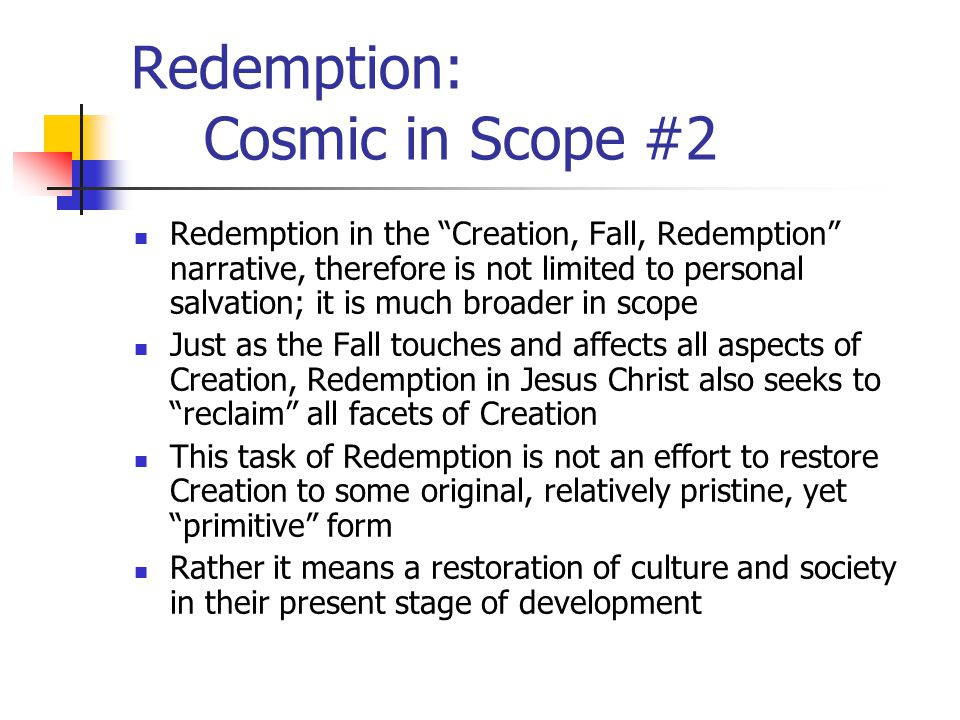 Redemption: Cosmic in Scope #2