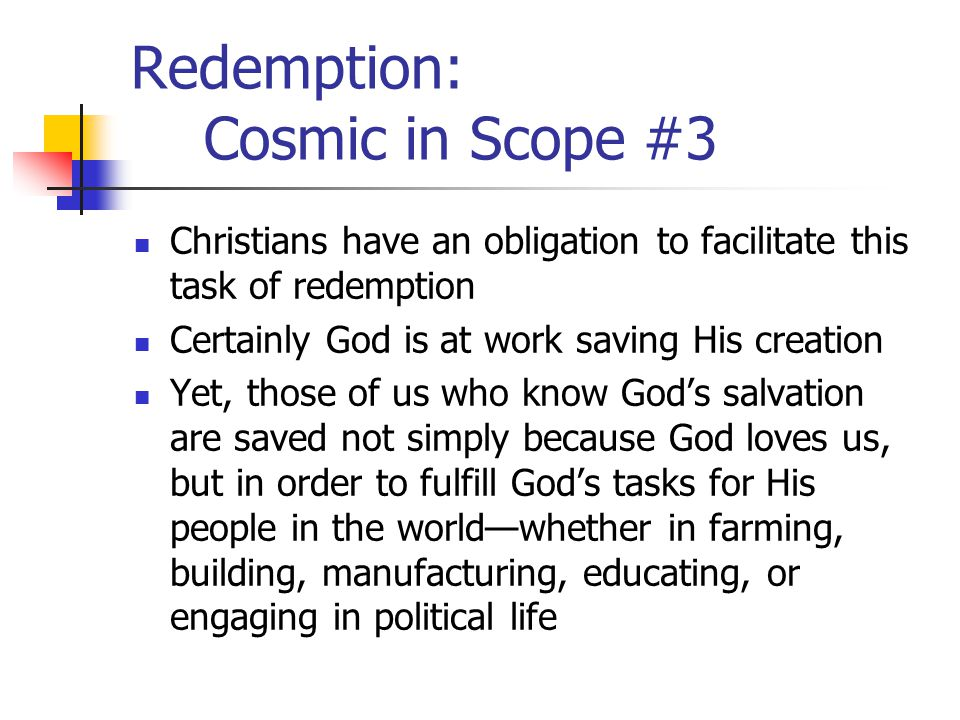 Redemption: Cosmic in Scope #3