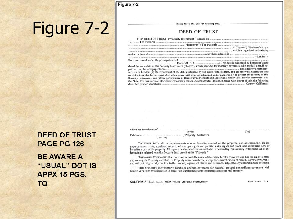 Figure 7-2 DEED OF TRUST PAGE PG 126