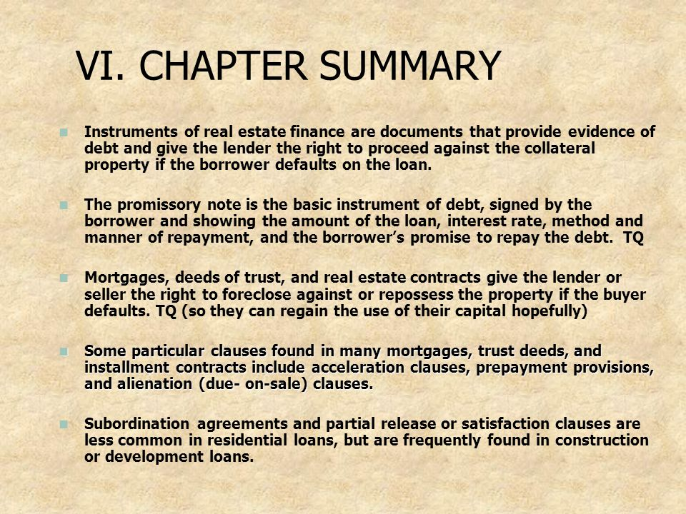 VI. CHAPTER SUMMARY
