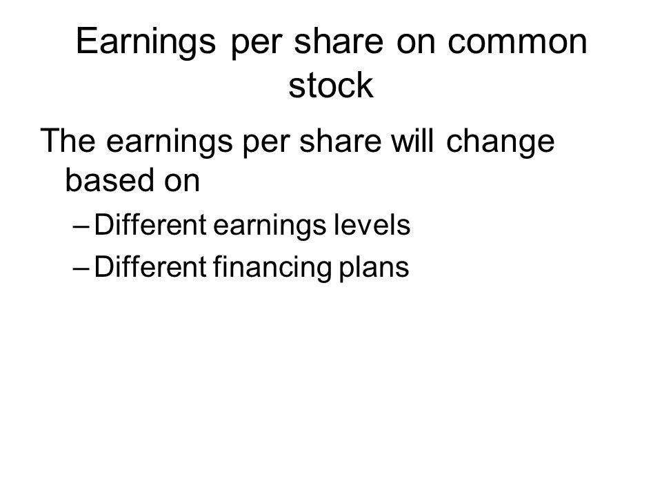 Earnings per share on common stock