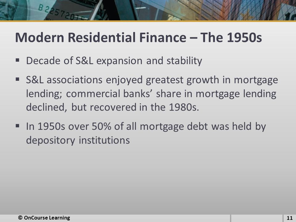 Modern Residential Finance – The 1950s