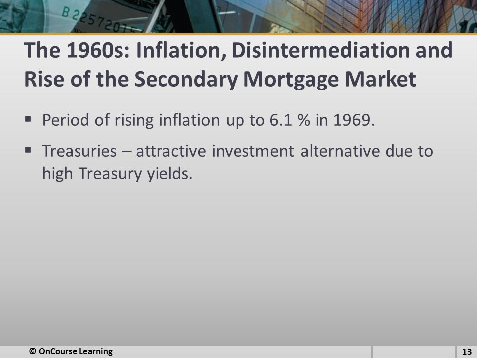 The 1960s: Inflation, Disintermediation and Rise of the Secondary Mortgage Market