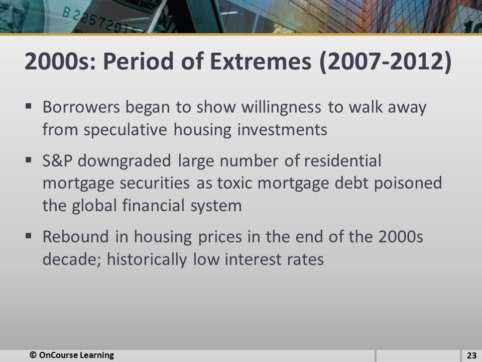 2000s: Period of Extremes (2007-2012)