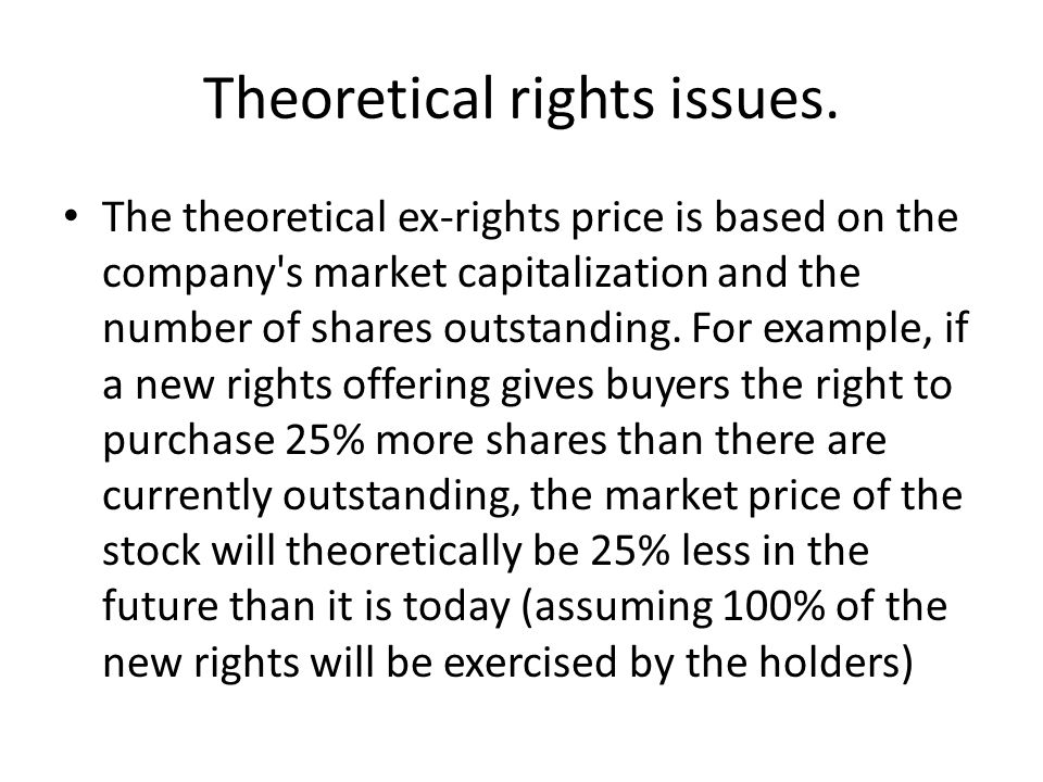 Theoretical rights issues.