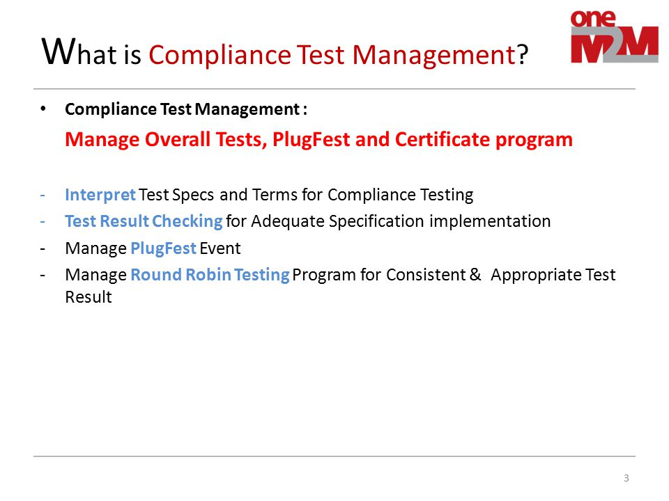 What is Compliance Test Management