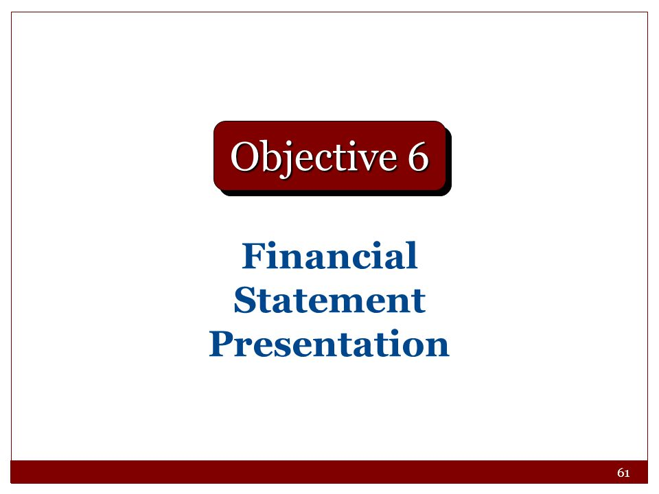 Financial Statement Presentation