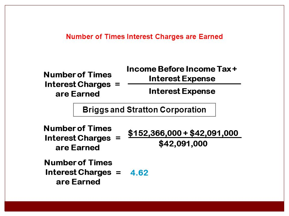 Income Before Income Tax + Interest Expense Interest Expense
