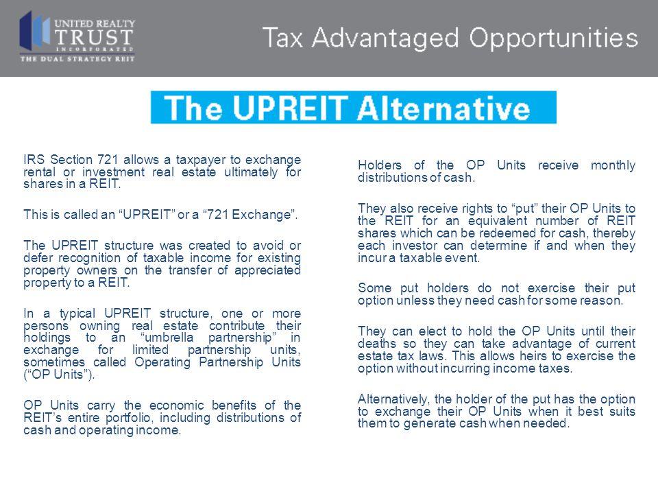 The UPREIT Alternative