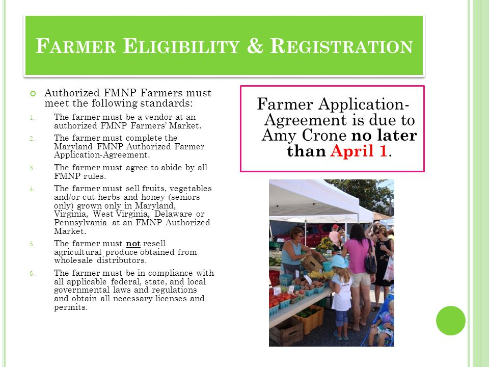 Farmer Eligibility & Registration