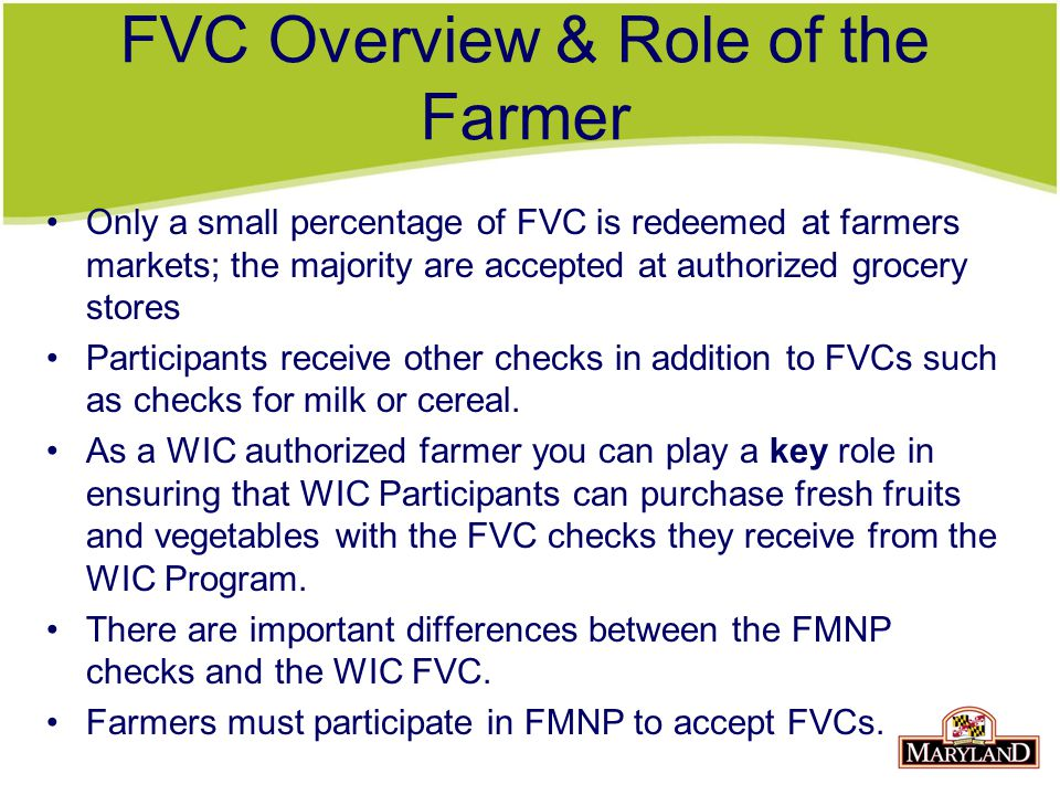 FVC Overview & Role of the Farmer