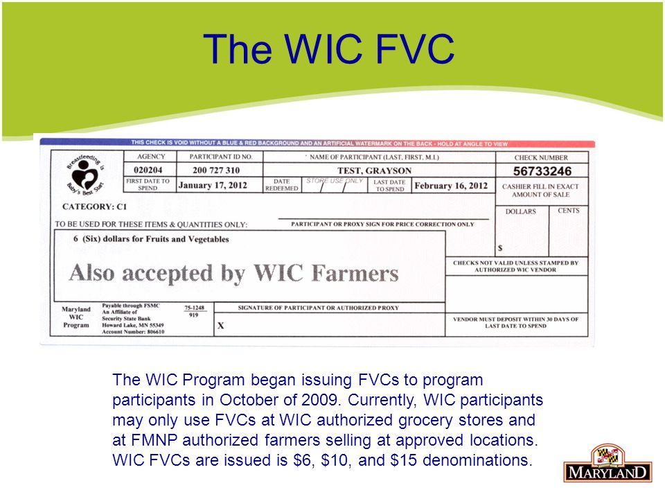 The WIC FVC