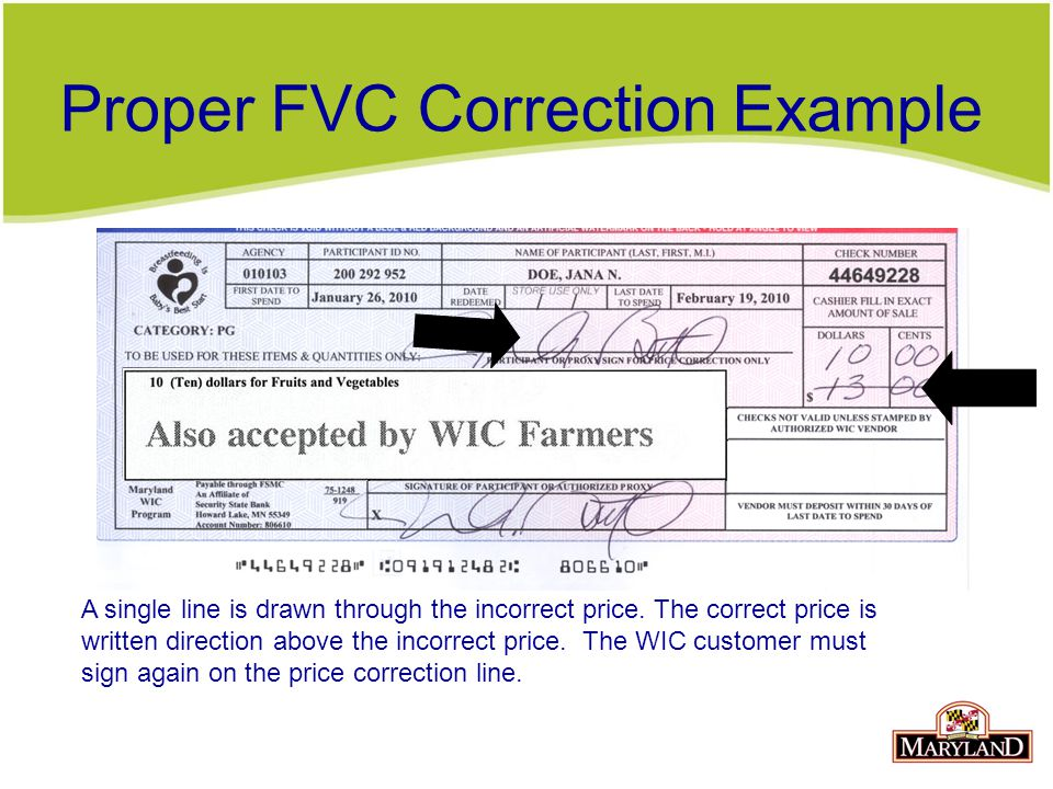 Proper FVC Correction Example