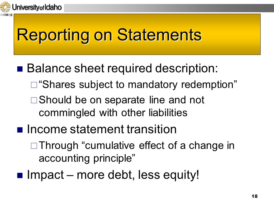 Reporting on Statements