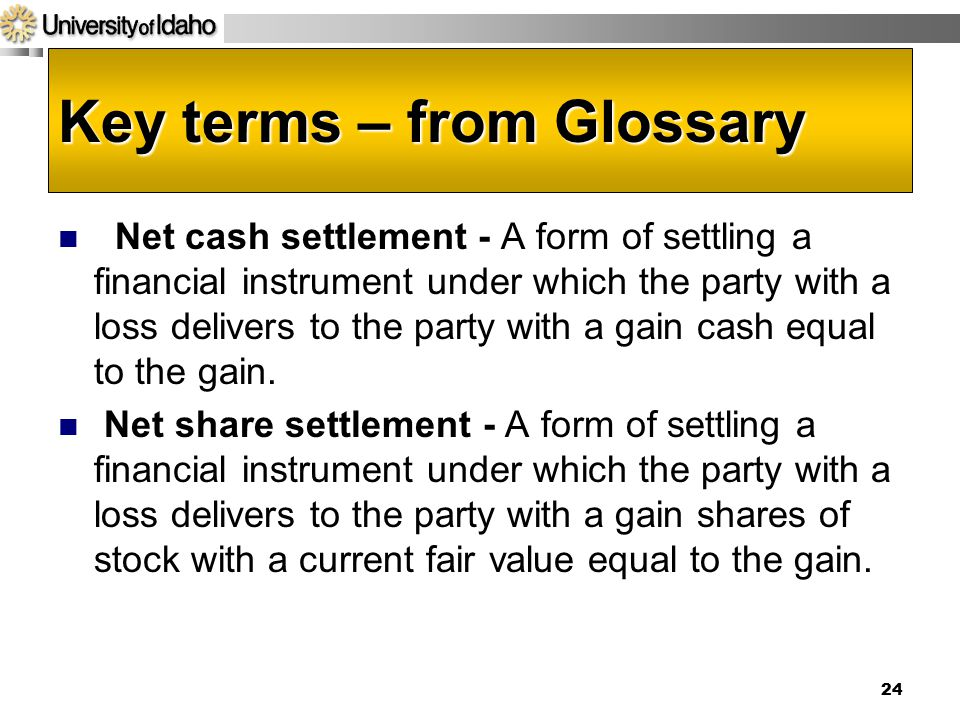Key terms – from Glossary