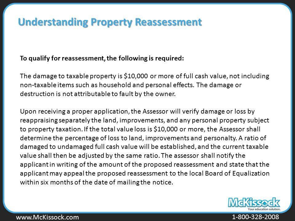Understanding Property Reassessment