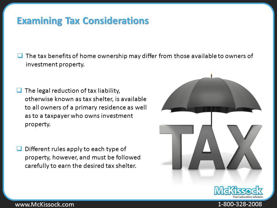 Examining Tax Considerations