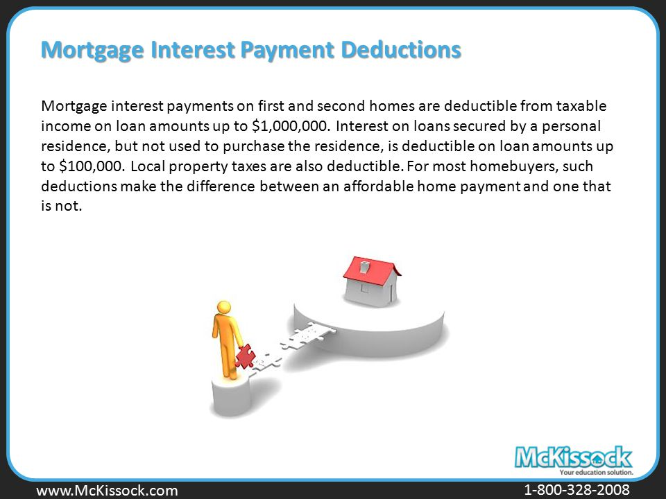 Mortgage Interest Payment Deductions