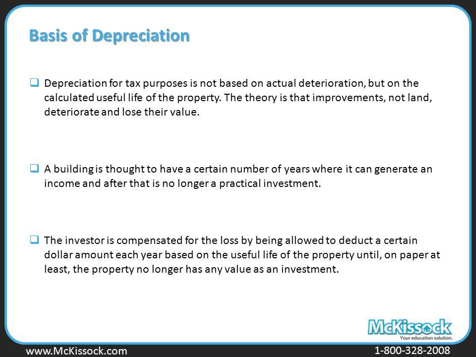 Basis of Depreciation