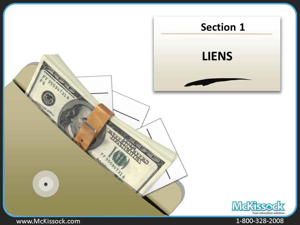 Section 1 LIENS