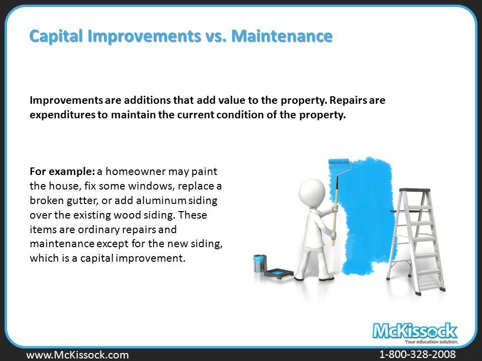 Capital Improvements vs. Maintenance
