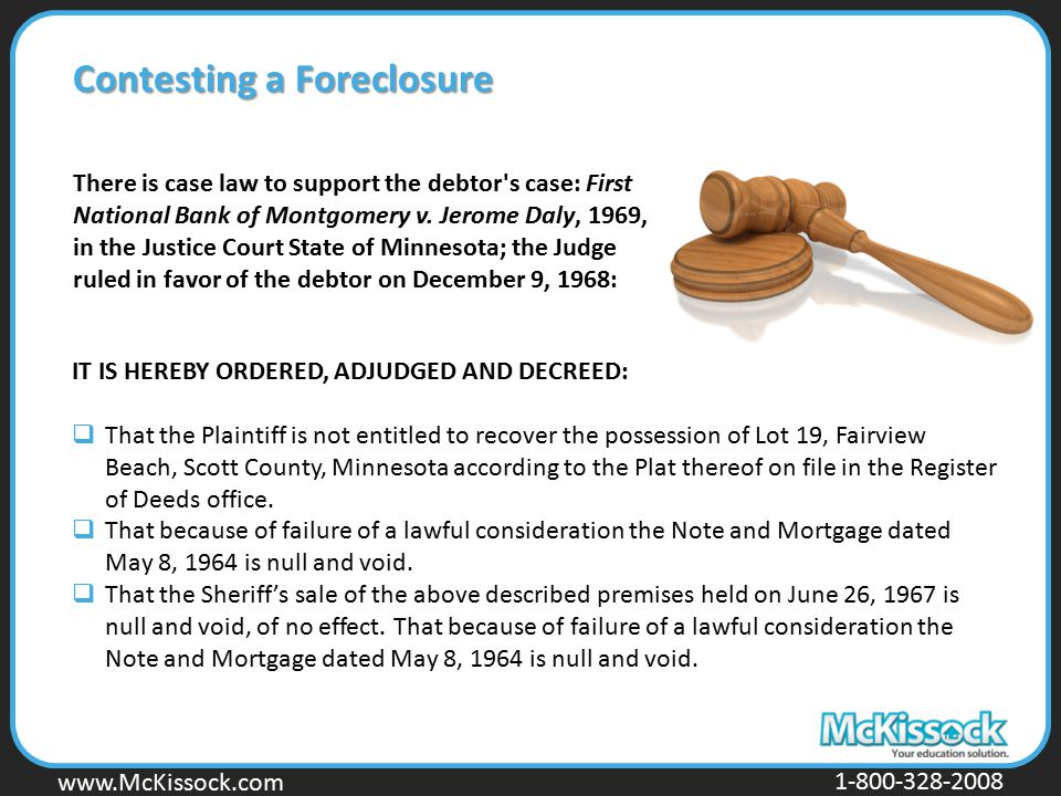 Contesting a Foreclosure