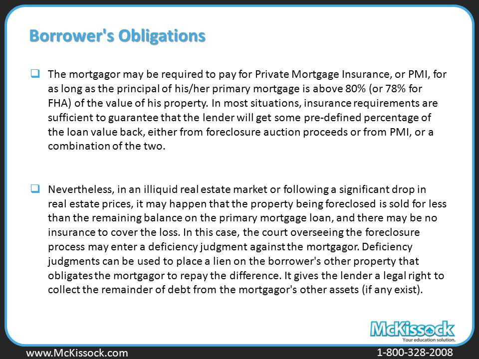 Borrower s Obligations
