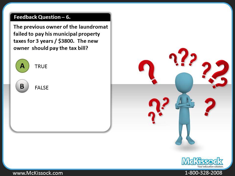 Feedback Question – 6.