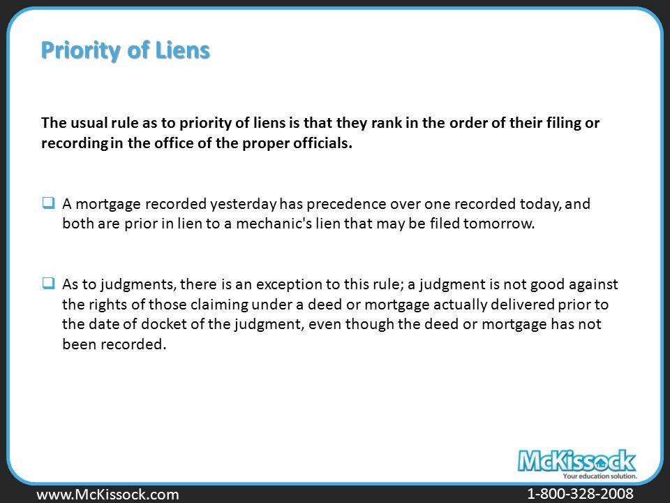 Priority of Liens