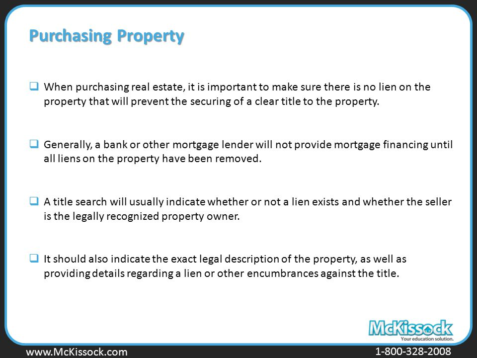 Purchasing Property