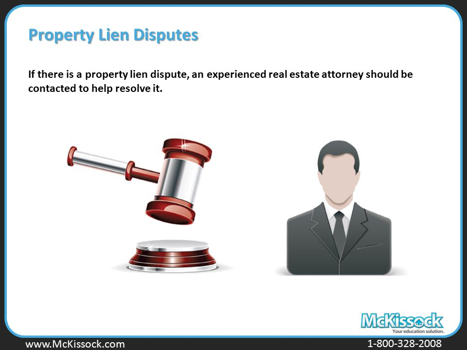 Property Lien Disputes