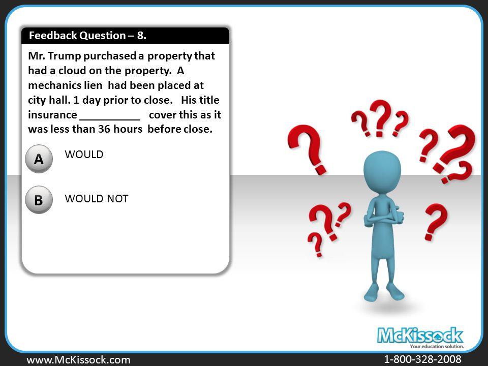 Feedback Question – 8.